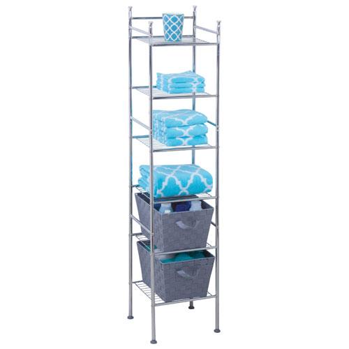 Honey-Can-Do 6-Tier Metal Storage Tower - Chrome