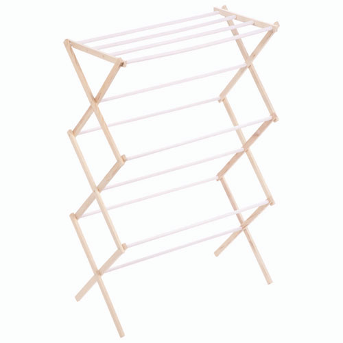 Honey-Can-Do Wood Drying Rack - White/Natural