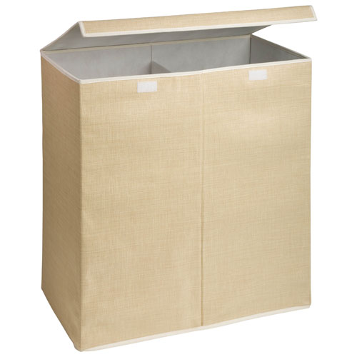 Honey-Can-Do Double Laundry Hamper/Sorter with Cover - Natural