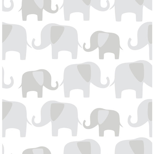 Nuwallpaper Elephant Parade Peel And Stick Wallpaper