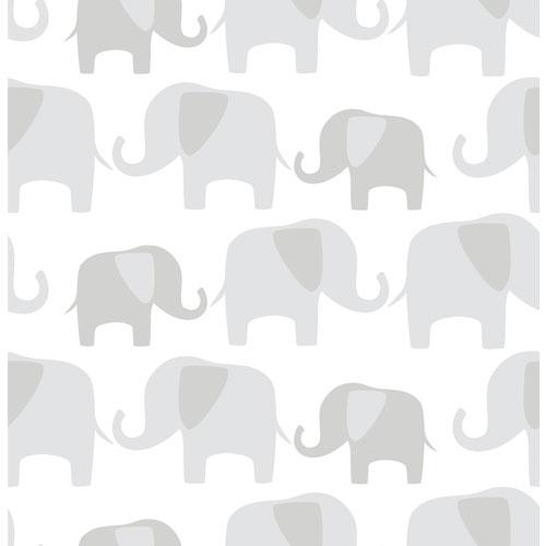 Nuwallpaper Elephant Parade Peel And Stick Wallpaper