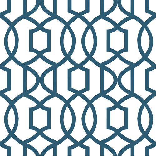 Papier peint autocollant à motif de treillis NuWallpaper - Bleu