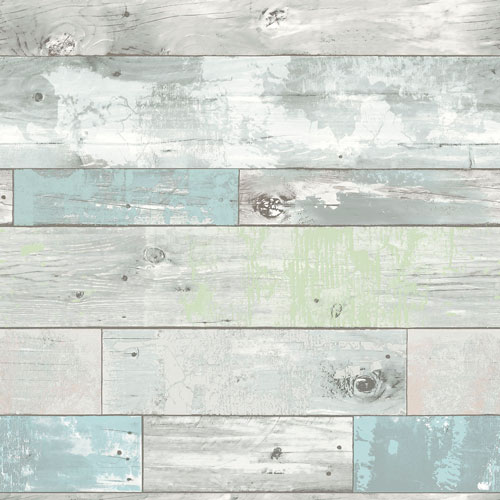 NuWallpaper Beachwood Peel and Stick Wallpaper - Multi-colour