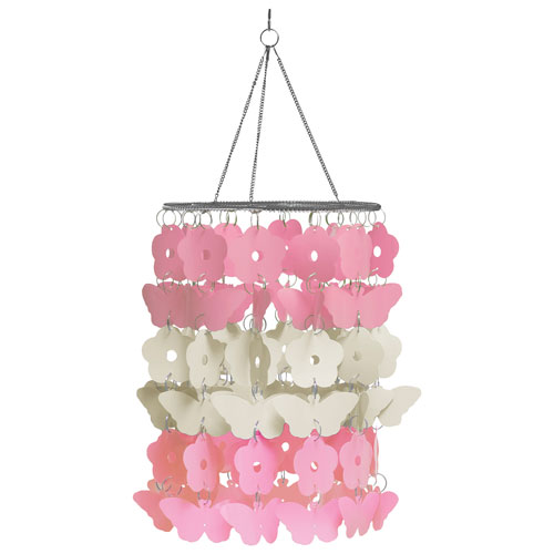 Wallpops butterfly garden nursery chandelier pinkwhite baby wallpops butterfly garden nursery chandelier pinkwhite baby mobiles best buy canada mozeypictures Images