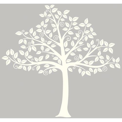 WallPops Silhouette Tree Wall Art - Off-White