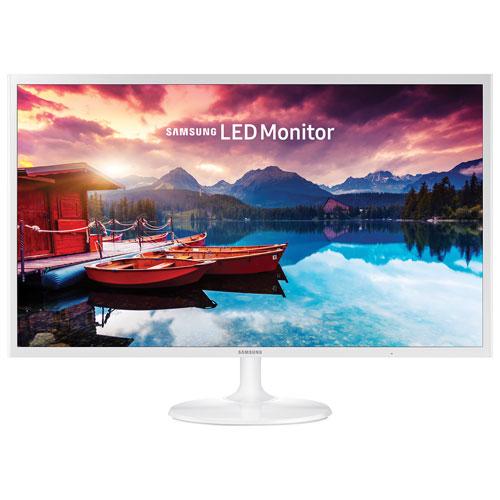 Moniteur DEL PLS FHD 60 Hz 32 po de Samsung avec temps de réponse de 5 ms (LS32F351FUNXZA) - Blanc