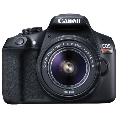 Canon EOS Rebel T6 DSLR Camera with EF-S 18-55mm f/3.5-5.6 IS II Lens Kit