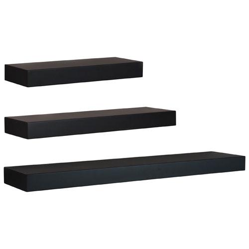 Maine 3-Piece Wall Shelf - Black