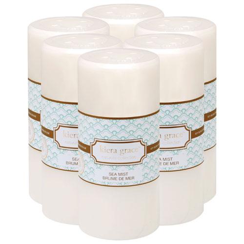 Chandelle haute de 6 po au parfum de brise marine de Kiera Grace Naturals - Paquet de 6