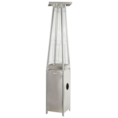 Paramount Pyramid Freestanding Propane Patio Heater - 46,000 BTU - Stainless Steel