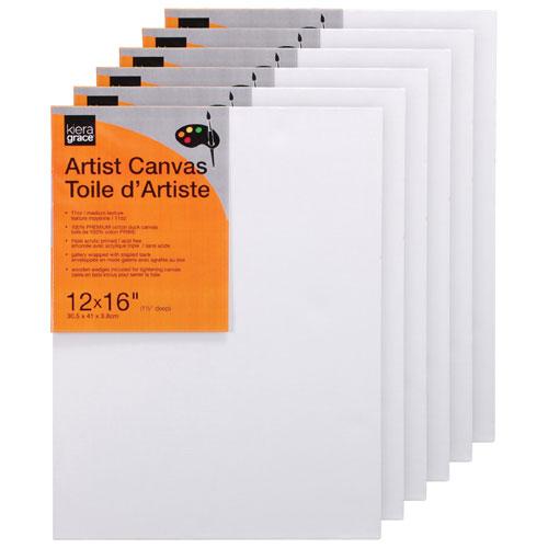 "Kiera Grace 12"" x 16"" Artist Canvas - 6 Pack"
