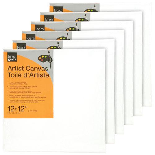 "Kiera Grace 12"" x 12"" Artist Canvas - 6 Pack"