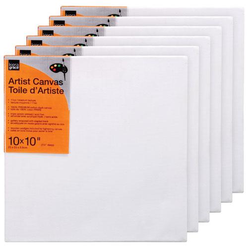 "Kiera Grace 10"" x 10"" Artist Canvas - 6 Pack"