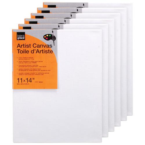 """Kiera Grace 11"""" x 14"""" Artist Canvas - 6 Pack (CR90225-2INT)"""