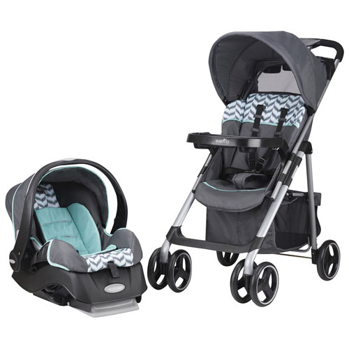Evenflo Vive Travel System Standard Stroller With Embrace Infant Car Seat