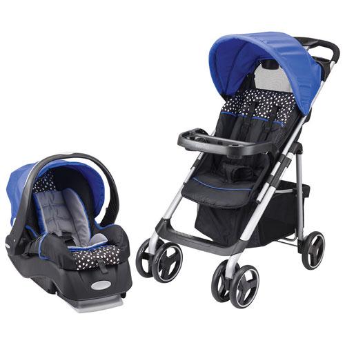 Evenflo Vive Travel System Standard Stroller with Embrace Infant Car Seat - Blue/Black/White