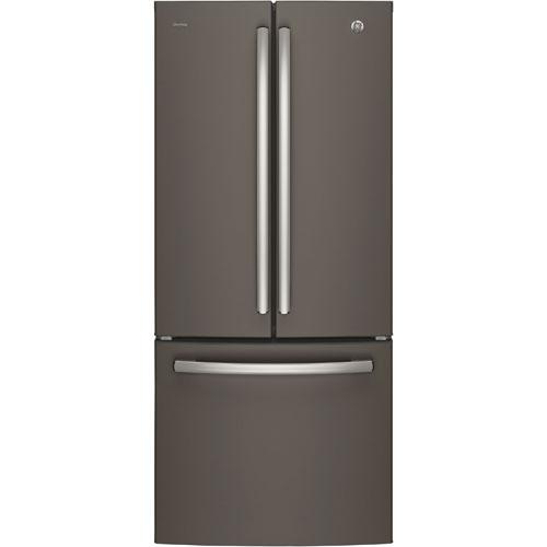 Réfrigérateur à congélateur en bas de 20,8 pi3 et 30 po avec éclairage DEL de GE (PNE21KMKES) - Inox
