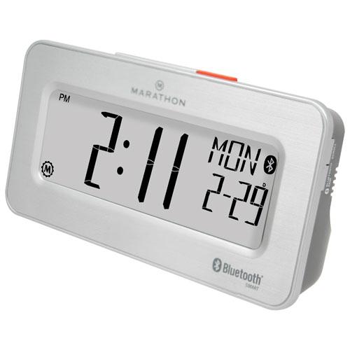 Marathon Bluetooth Tabletop Clock - Brushed Steel