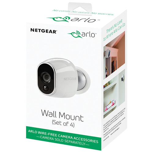 Arlo Security Camera Wall Mount - 4 Pack - Silver