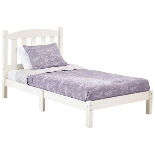 Traditional Wood Bed Frame - Twin - White : Beds & Bed Frames - Best ...