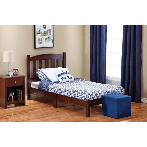 traditional wood bed frame twin dark brown kids beds best buy canada. Black Bedroom Furniture Sets. Home Design Ideas