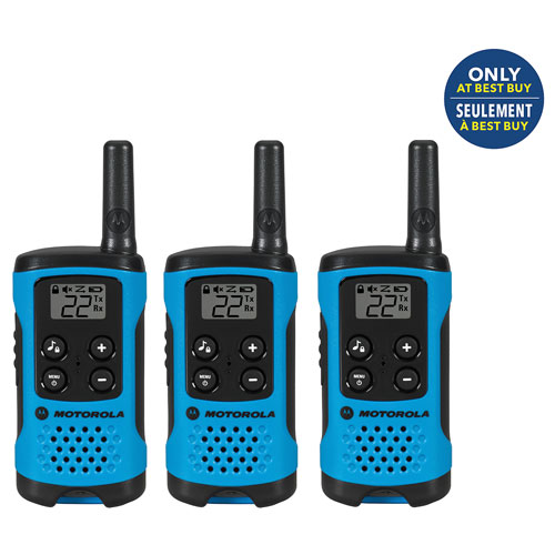 Motorola Talkabout T100TP 25 km 2-Way Radio - 3 Pack - Only at Best Buy