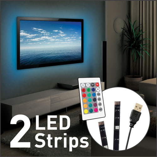 Barkan usb led multi color mood light for tv 2 strips led strip barkan usb led multi color mood light for tv 2 strips online only aloadofball