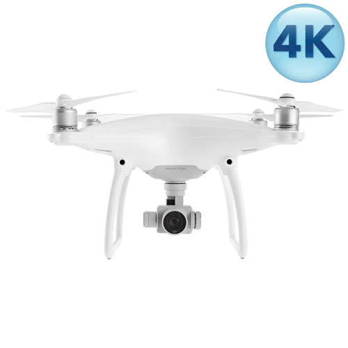 DJI Phantom 4 Quadcopter Drone with Camera & Controller - Ready-to-Fly - White