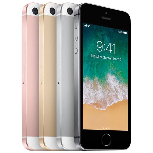 iPhone SE 64 Go d'Apple avec Virgin - Forfait Or - Entente de 2 ans