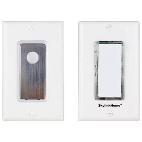 Interrupteur marche/arrêt 3 voies sans fil de SkylinkNet (SK-8A) - Blanc