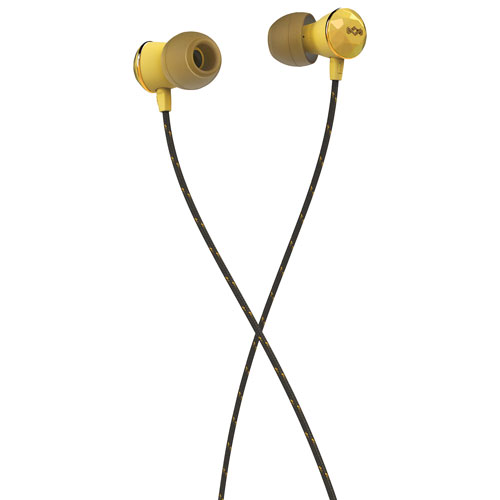 House of Marley Nesta In-Ear Sound Isolating Headphones with Mic - Gold