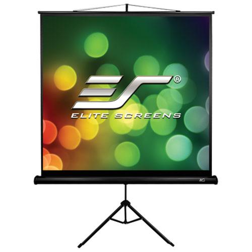 """Elite Screens Tripod B 113"""" 1:1 Portable Manual Projector Screen"""