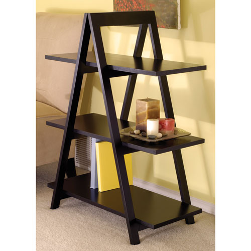 3-Shelf Storage Shelf - Black