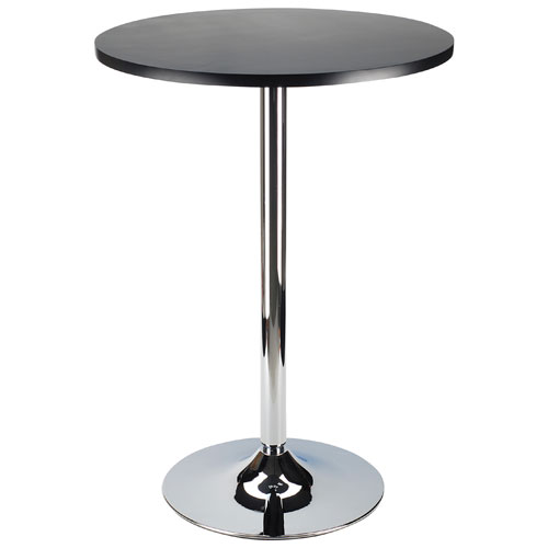 table de bar ronde transitionnelle pour 4 personnes spectrum noir m tal tables de bar. Black Bedroom Furniture Sets. Home Design Ideas