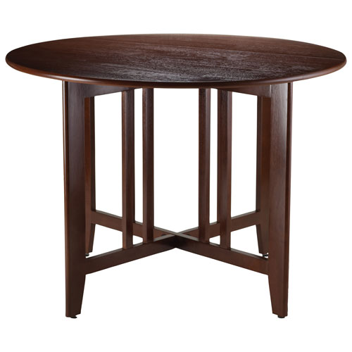 Alamo Transitional 4 Seating Double Drop Leaf Round Casual Dining