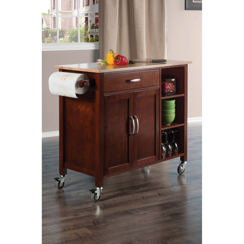 sc 1 st  Best Buy Canada & Mabel Transitional Mobile Kitchen Cart - Walnut | Best Buy Canada