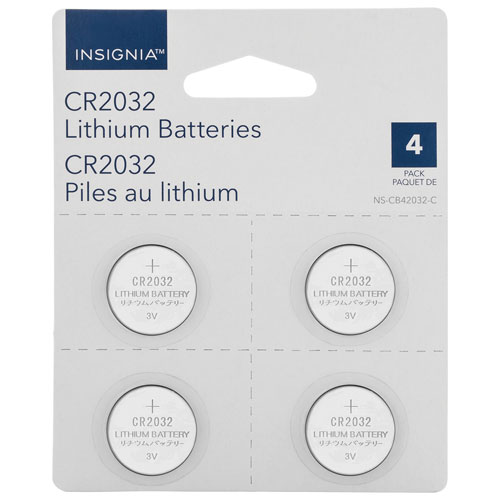 Insignia CR2032 Lithium Coin Batteries - 4 Pack