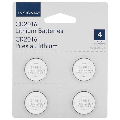 Piles bouton au lithium CR2016 d'Insignia - Paquet de 4