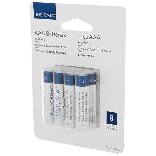 Piles alcalines AAA d'Insignia - Paquet de 8