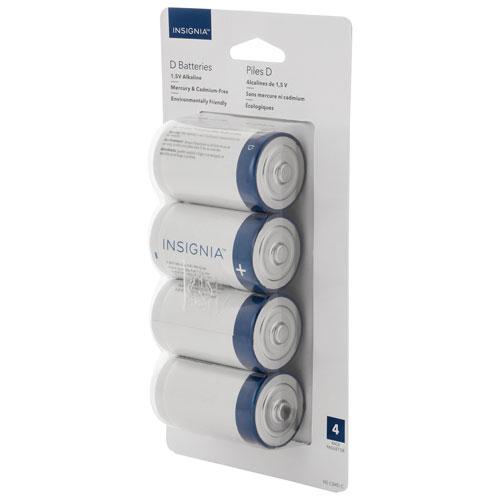 Piles alcalines D de 1,5 V d'Insignia - Paquet de 4
