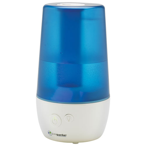 PureGuardian H965AR 70-Hr Ultrasonic Humidifier with Aromatherapy Tray - Blue