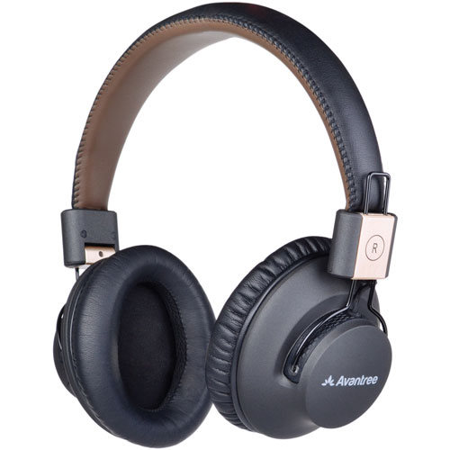 Avantree Audition Pro Over-Ear Sound Isolating Bluetooth Headphones (BTHS-AS9P-BLK) - Black