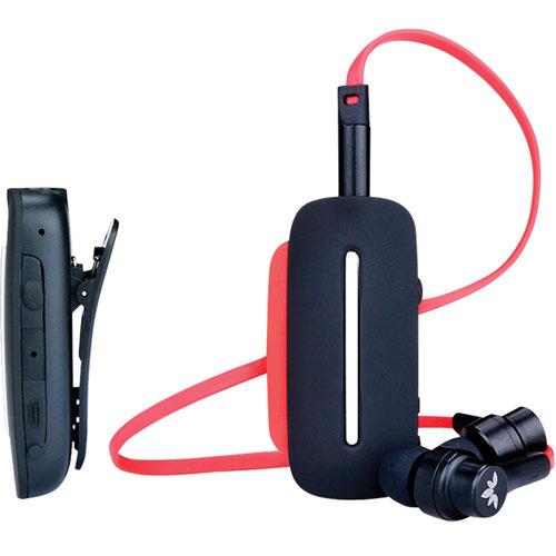 Lecteur Bluetooth à pince avec écouteurs boutons d'Aventree (BTHS-AS7-Q-BLK) - Noir