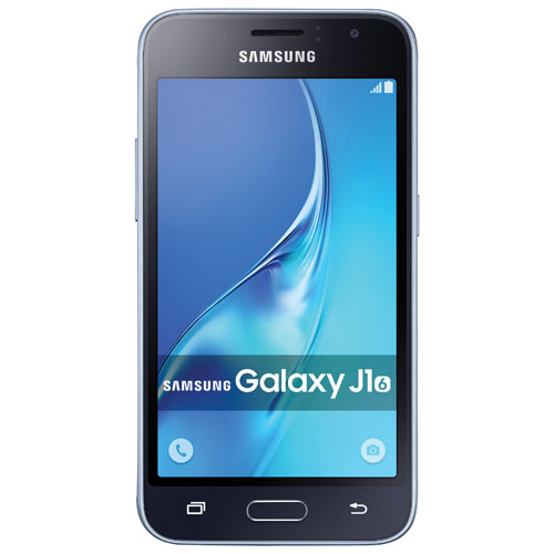 Téléphone intelligent 8 Go Galaxy J1 de Samsung offert par TELUS - Noir - Prépayé