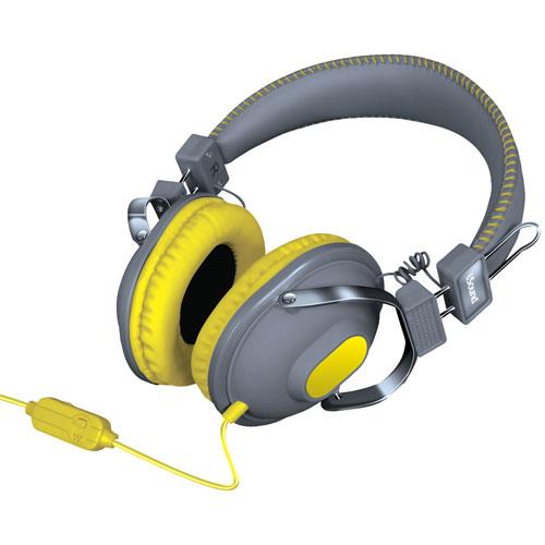 iSound On-Ear Headphones (DGHM-5523) - Grey/Yellow