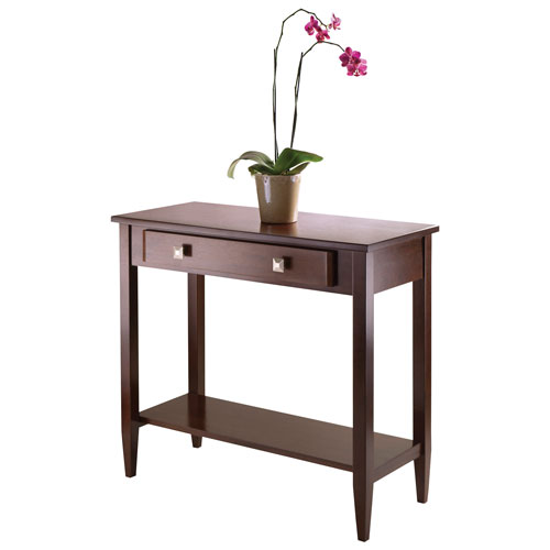 Richmond Transitional Rectangular Console Table with Drawer - Antique Walnut