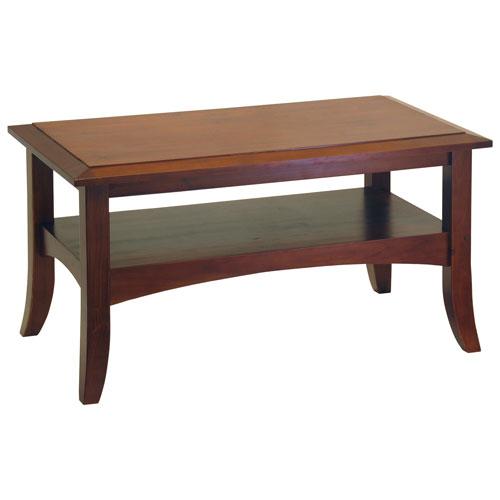 Table Basse Transitionnelle Rectangulaire Craftsman Noyer Antique