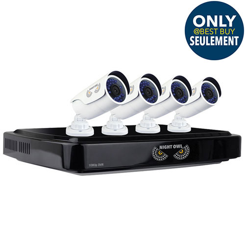 Night Owl Wired 8 Channel 1TB Security System with 4 1080p Bullet Cameras - Black/White