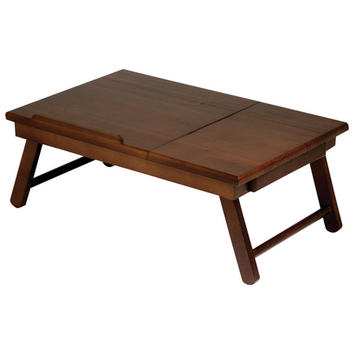 Plateau de lit Alden - Noyer antique
