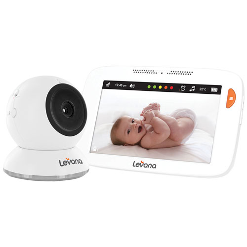 """Levana Shiloh 5"""" Touchscreen HD Video Baby Monitor with 12-Hour Battery Life & Rapid Recharging"""